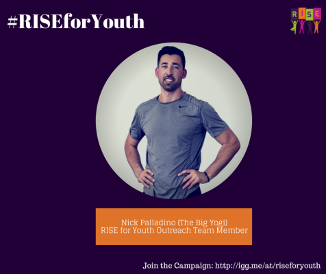 Nick Palladino, The Big Yogi, on RISEforYouth
