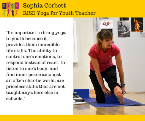 Sophia Corbett RISE Yoga for Youth Teacher