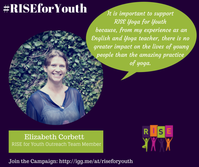 Elizabeth Corbett on RISE Yoga for Youth