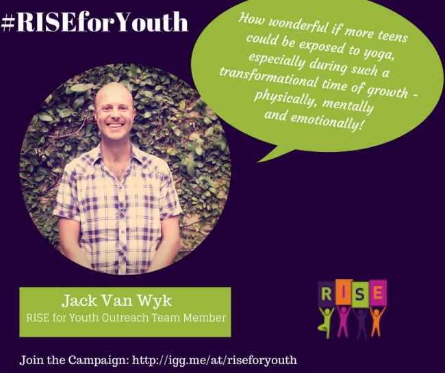 Jack Van Wyk Supports RISE Yoga for Youth