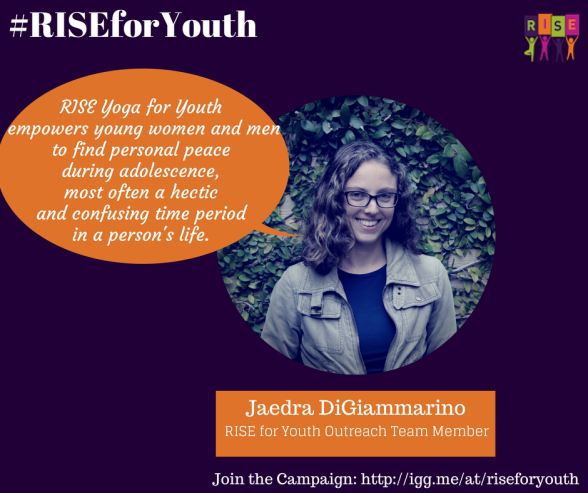 Jaedra Supports RISE Yoga for Youth