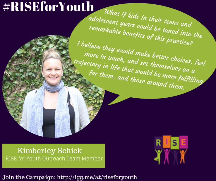 Kimberly Schick Supports RISE Yoga for Youth