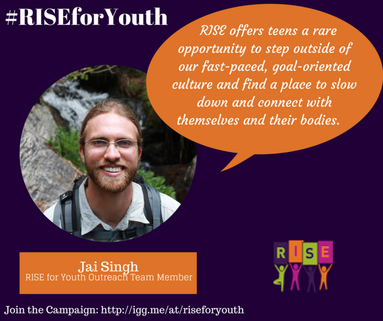Jai Singh Supports RISE Yoga for Youth